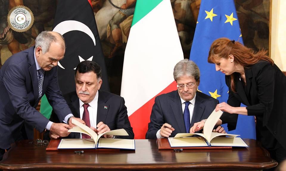 "Résultat de recherche d'images pour ""Libya - Italy - Memorandum of understanding"""