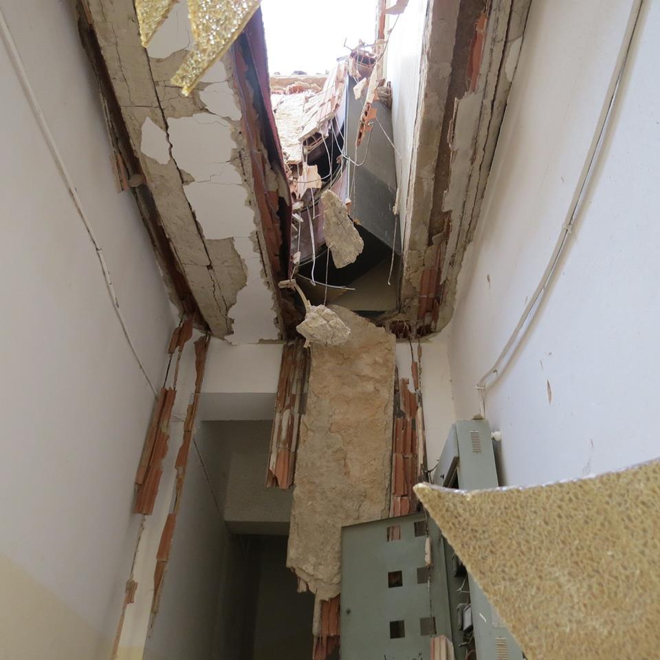 Ceiling Of Residential Building Fell Down In Libyan
