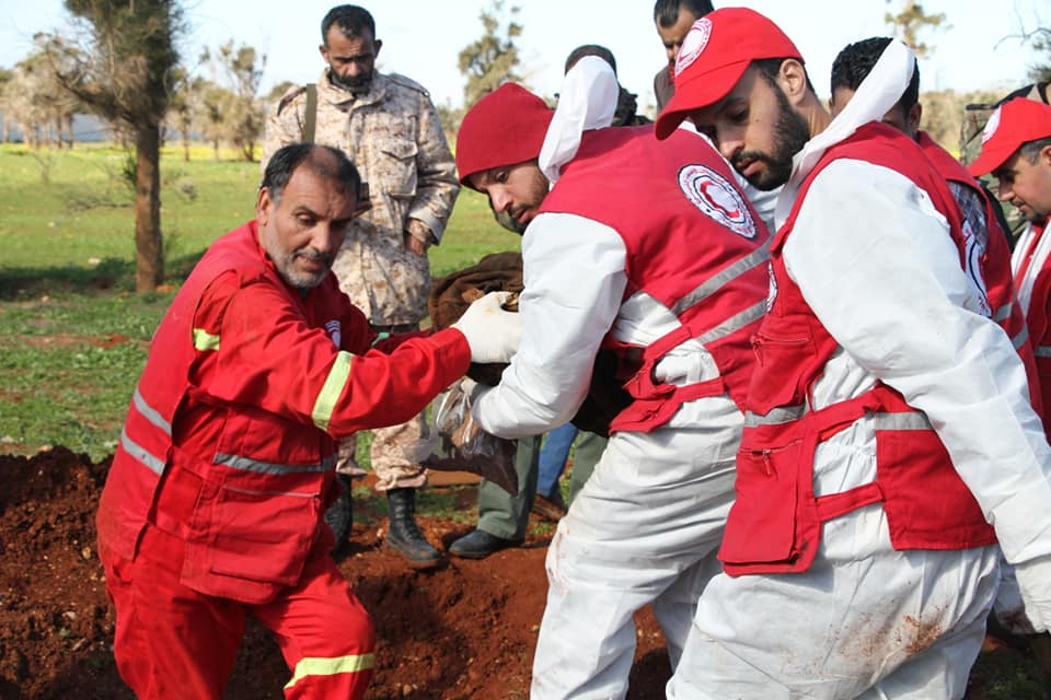 Libyan Red Crescent of Derna retrieves two unidentified