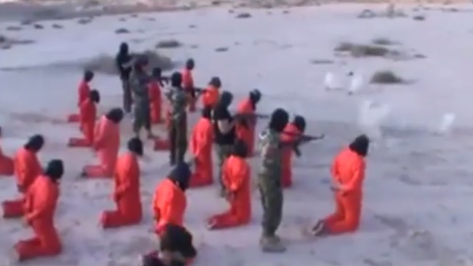 Libya video shows 'killing of Isis fighters'