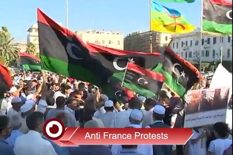 Angry protests held in libya to denounce french intervention the angry protests held in libya to denounce french intervention sciox Choice Image