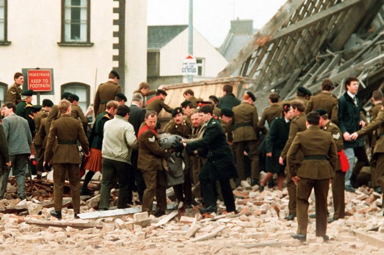 IRA's 1987 bombing of the Cenotaph in Enniskillen. The Belfast Telegraph photo