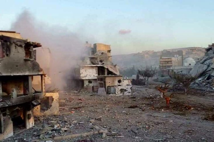 Derna after shelling