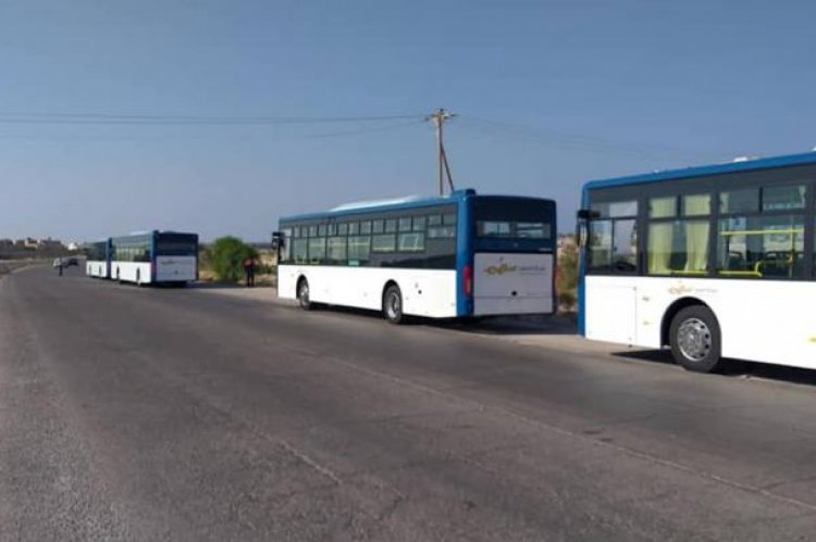 Assahim Transport Company: Public transport buses arrive in