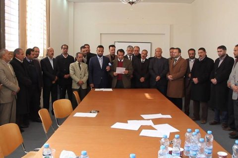 Benghazi University's Council reading the resignation