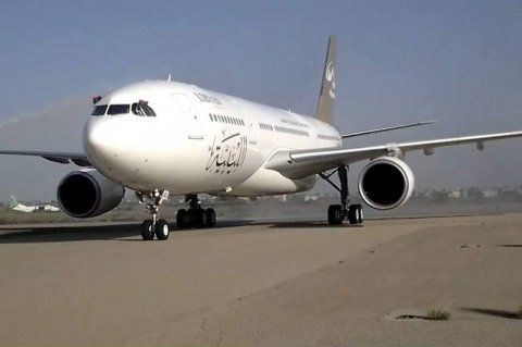 A new Airbus A330-200 landed on Wednesday at Mitiga Airport to join the fleet of Libyan Airlines