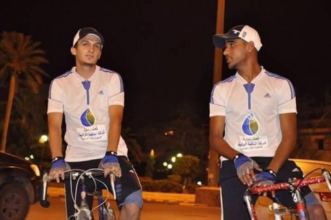 Tawfiq & Mohammed bike to Tripoli for peace.  Friday, June 19, 2015. Photos: Social Media