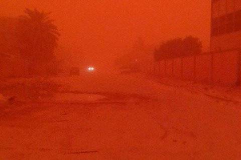 Dusty weather hits many parts of the eastern region. Tuesday, May 26, 2015. Photos: Social Media