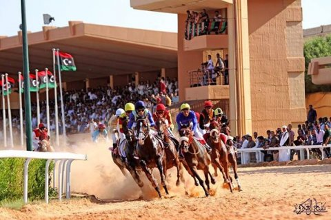 Preliminary horse races are being held at Abu Sittah Square in Tripoli for the season 2015-2016. Photo Courtesy Moftah al akroty