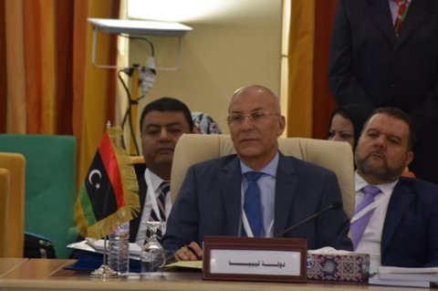 Libya's Ambassador to the Arab League, Saleh Al-Shamakh