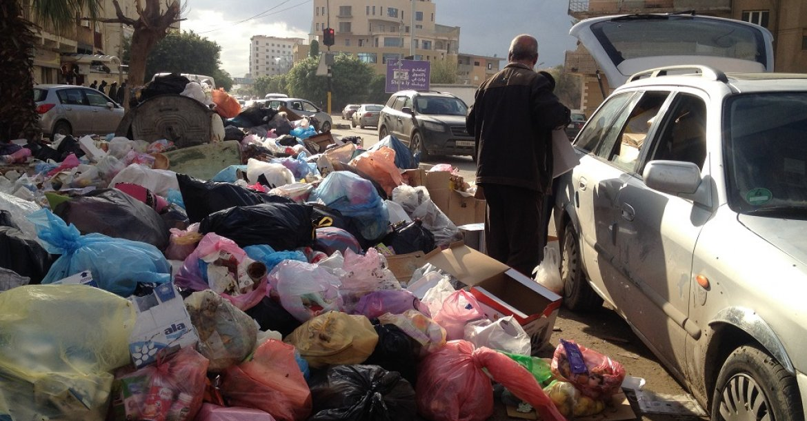 Garbage piling up in Tripoli streets