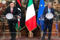 Italian Prime Minister, Paolo Gentiloni meets Fayez Al-Sirraj. PC Photo