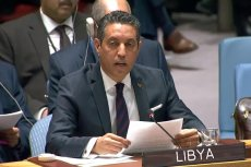 Libyan ambassador to the United Nations, Taher El Sonni. UN TV