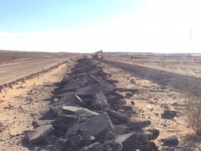 Ghadames Municipality: Work is underway at vital Rd Nalut- Sinawin