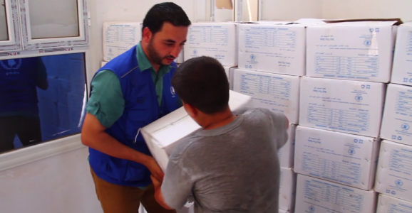 WFP delivers humanitarian aid to families in Sirte
