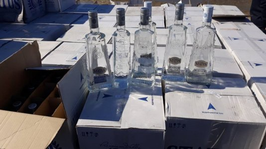 Customs Authority in Khoms seize shipment of alcohol drinks