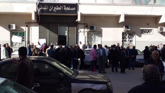 Workers of civil aviation authority go on strike threatening to pause Libya's air traffic