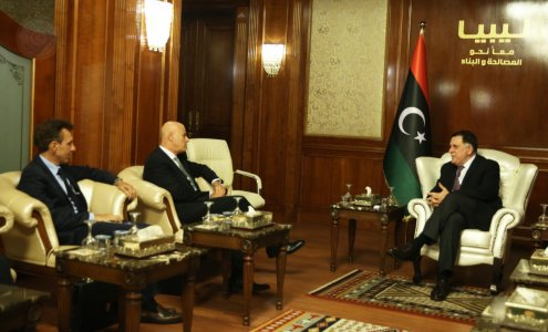 Libya's Al-Sirraj talks cooperation with CEO of Italian oil giant Eni
