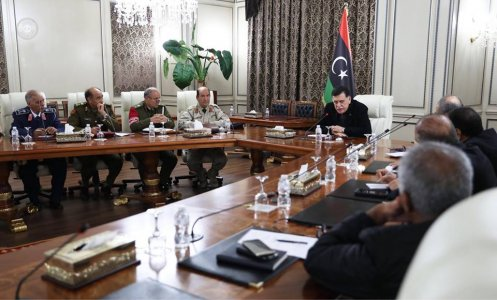 Al-Sarraj reviews security arrangements with military and security leaders