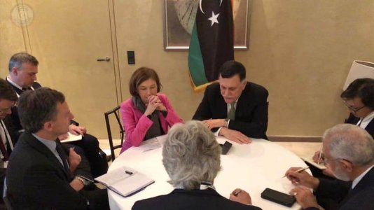 PC's head reviews with French Defence Minister developments in Libyan arena