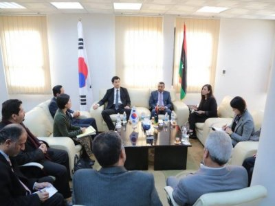 Korean delegation visits Janzur power station site along with GECOL officials