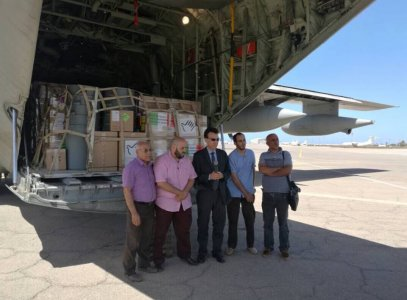 Sabratha Hospital receives 11 tons of medical aid from Italy