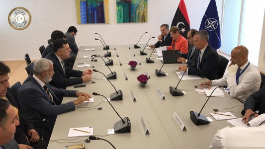 Libyan PM enlists more support to end Libya's political, immigration crises in Brussels