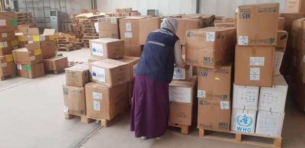 WHO sends medical supplies to prevent the spread of Coronavirus in Sabha