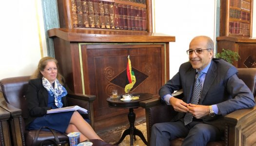 Deputy head of UNSMIL meets Governor of CBL on economic reform package